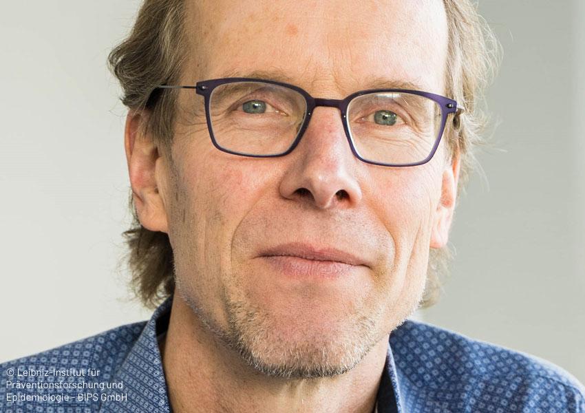 Porträt von Prof. Dr. Hajo Zeeb, Leiter der Abteilung Prävention und Evaluation, © Leibniz-Institut für Präventionsforschung und Epidemiologie - BIPS GmbH